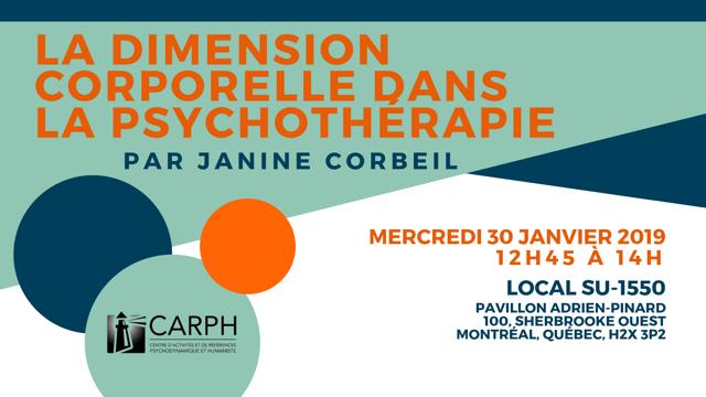 «La dimension corporelle dans la psychothérapie», par Janine Corbeil